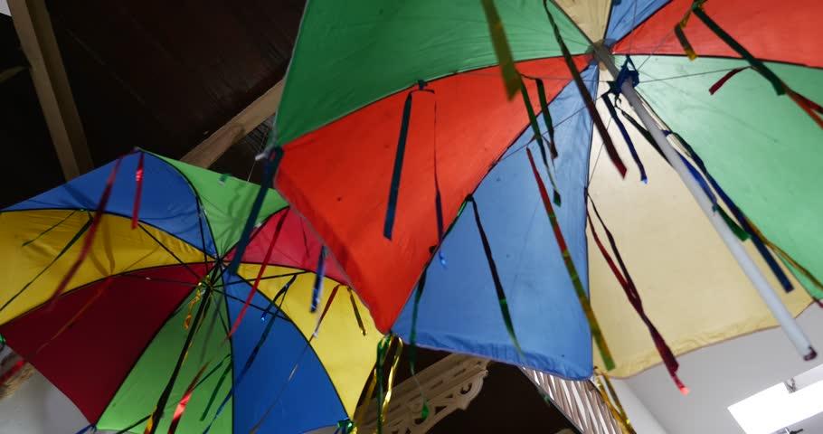 Frevo Umbrellas in Recife, Pernambuco, Brazil