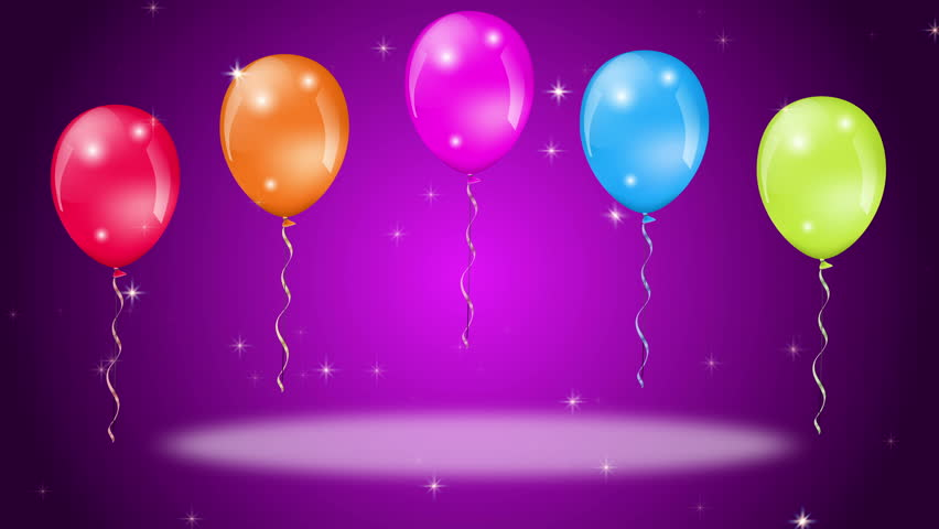 Animation Of Colorful Birthday Balloons With Confetti ...