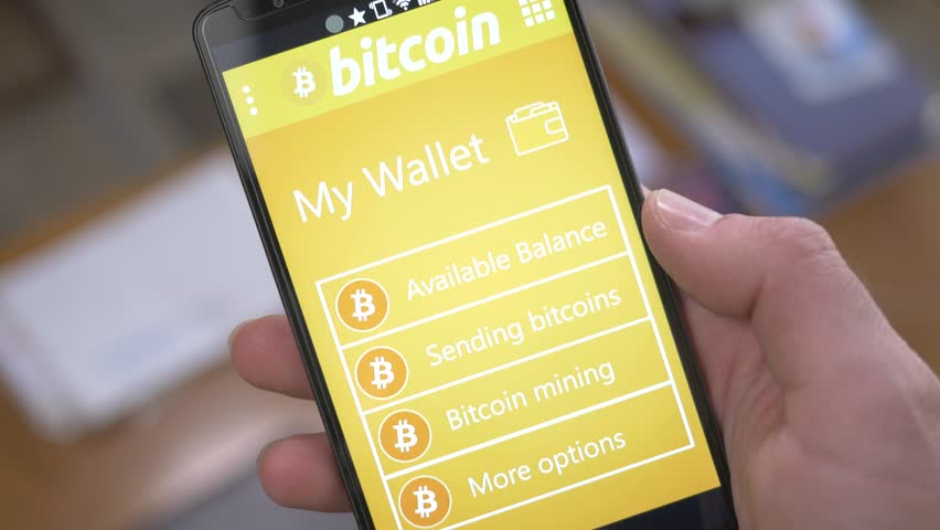 Tablet Application Showing The Balance Of A Bitcoin Wallet
