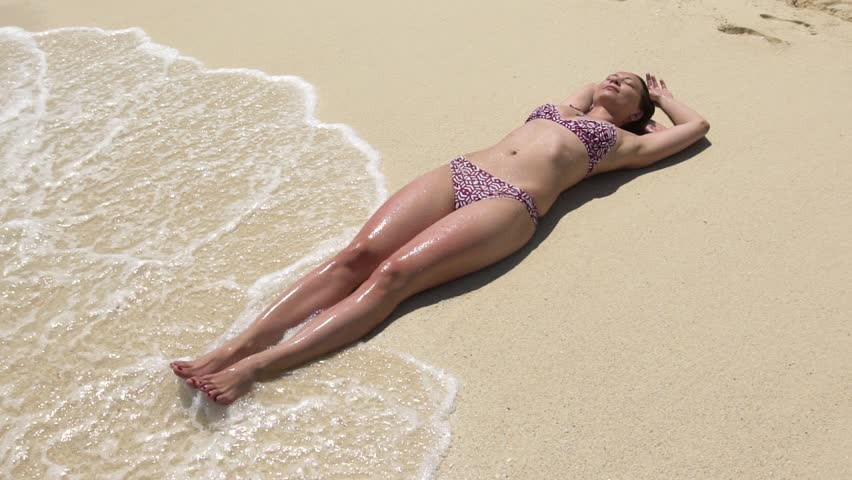Bikini girl photo take