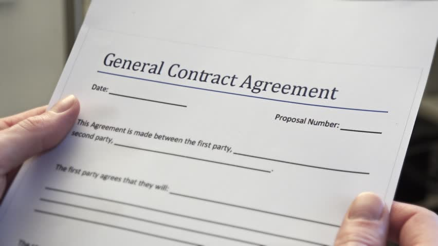 Blank General Contract Agreement Form Stock Footage Video 100