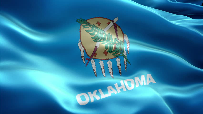 This is the surging effected flag of Oklahoma which is a state of united states
