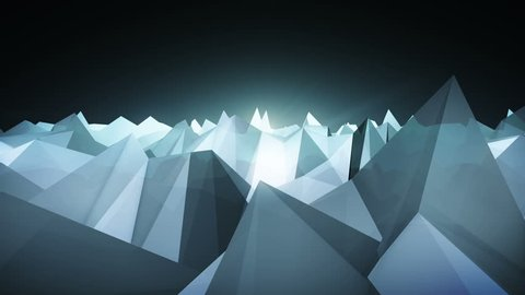 Forward moving abstract lowpoly vector dark background. illustration. 2