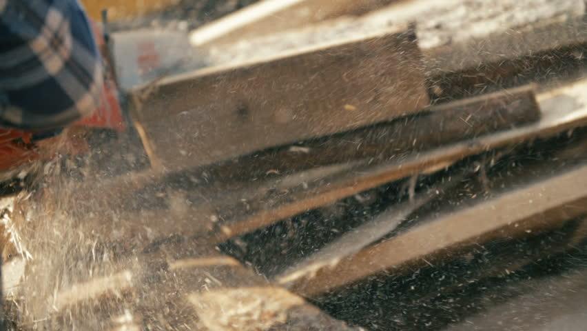 Wood Cutting Machine Board Log Stock Footage Video (100% Royalty-free)  15877372   Shutterstock