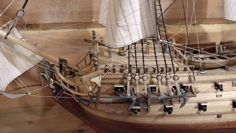 Russia, Saint-Petersburg, pos. Lahti, 21 October 2015 elegant fine handmade wizard to create copies of the naval ship of imperial times
