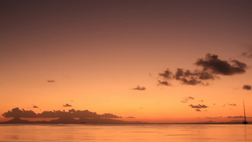 Time Lapse Sunset, Huahine, French Polynesia