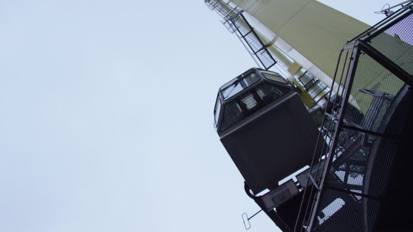 Gantry Cranes   4K Stock Footage Clip