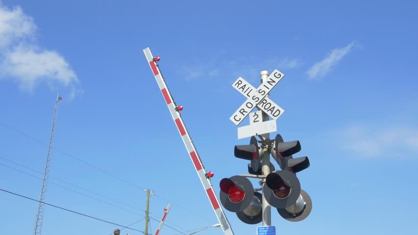 Railroad crossing stock footage video shutterstock