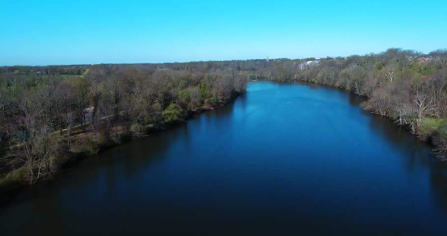 Olympic Princeton Rowing Team Practice Aerial Video, On Princeton campus lake. Princeton New Jersey. (2016)