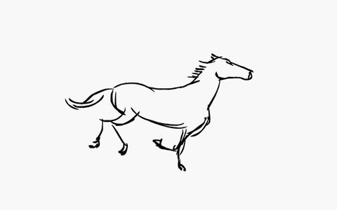 Running horse ( Seamless Loop )