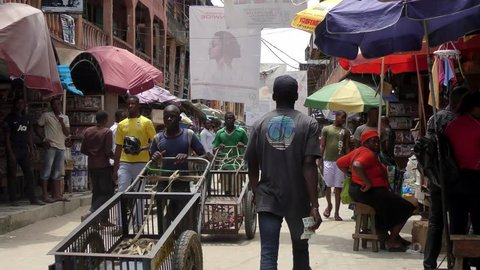 2016. Alaba International market. Nigeria 4k