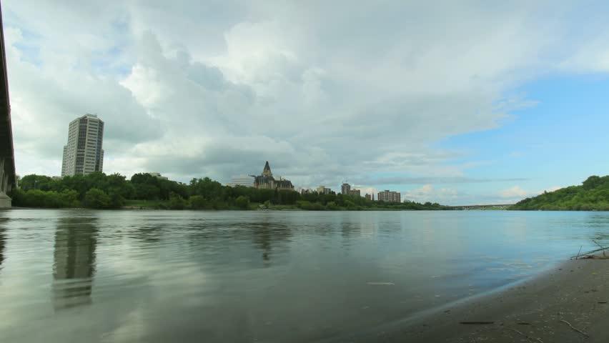 Time lapse of Saskatoon and Saskatchewan River