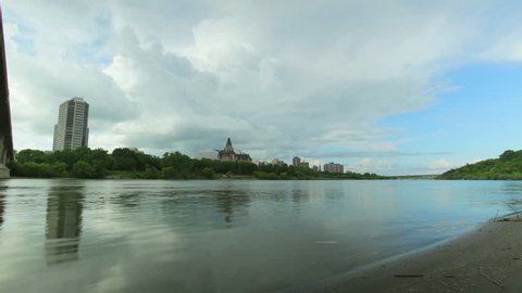 Time lapse of Saskatoon and Saskatchewan River