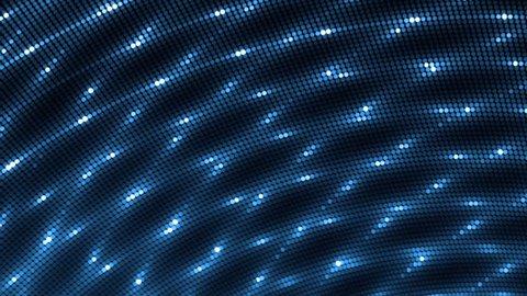 Vj Abstract Blue Bright Mosaic. Bright beautiful flood lights disco blue background mosaic. Seamless loop.