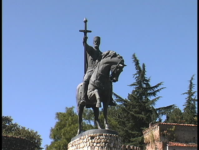 August - 2008 - Republic of Georgia - Statue of King Herkele in Kakheti | Shutterstock HD Video #1617922