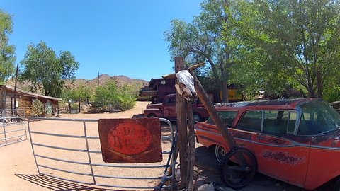 Hackberry Arizona Usa June 14 2017 The Entrance To An Old