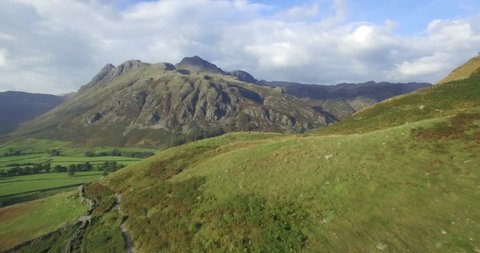 Great Langdale and the Langdale Pikes from Side Pike, Lake District, Cumbria, England - 01/10/2015