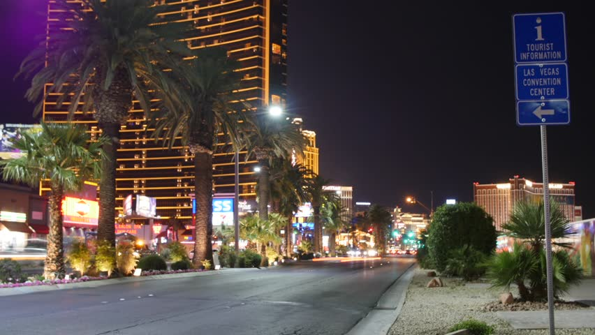 A cool timelapse of the Las Vegas Casino strip at night with people and traffic | Shutterstock HD Video #16195372