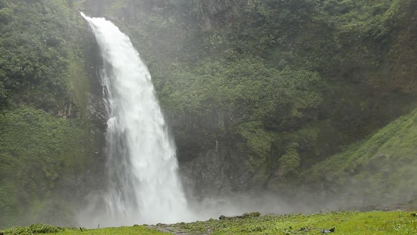 Cascada Magica, waterfall on the Rio Malo, Ecuador