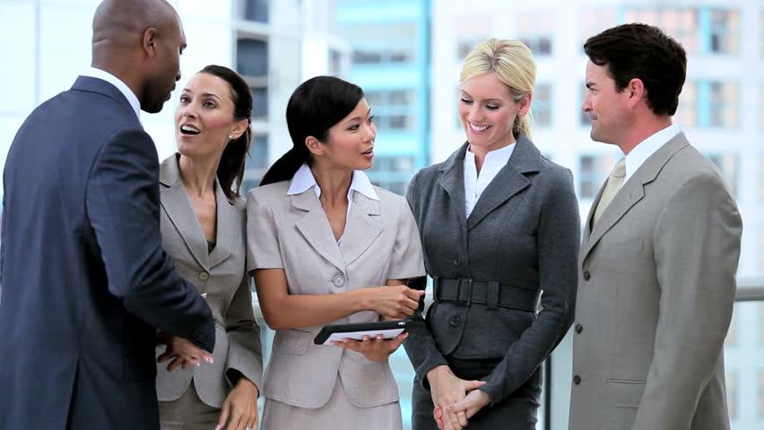 Young Business Team Using Wireless Technology | Shutterstock HD Video #1631941