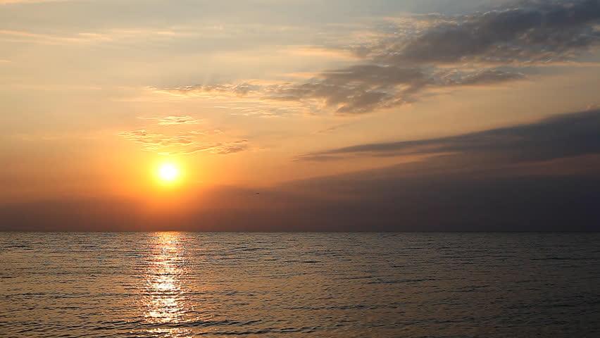Beautiful sunrise on the sea | Shutterstock HD Video #16352032