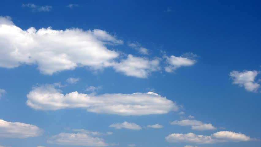 A timelapse of generic clouds on a blue sky for background #16353622