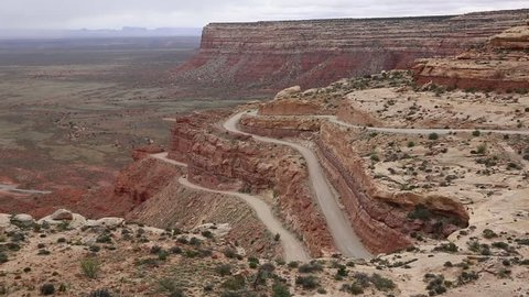 Driving up Moki Dugway - Utah