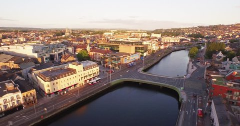Ireland aerial of the city of Cork
