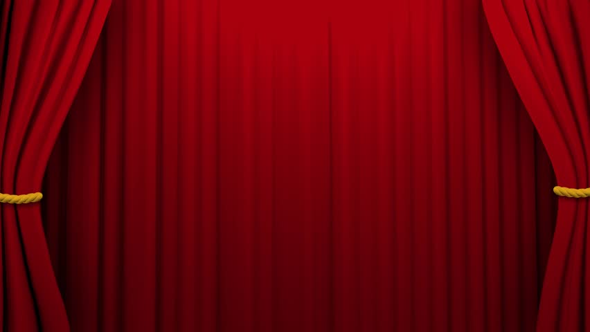 Curtains Opening And Closing Stage Theater Cinema Green Screen 4K ...