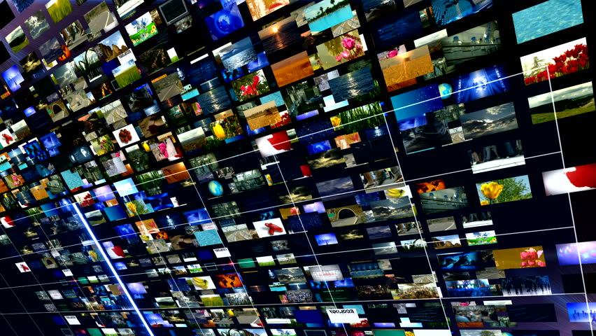 multi screen videos for the news HD 1080