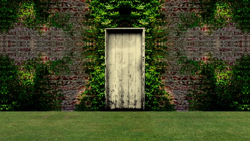 Garden Door Open to a Stock Footage Video (100% Royalty,free) 16603732