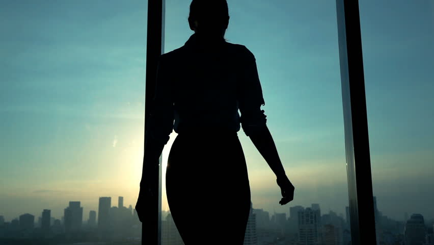 Young woman admire cityscape during sunset, slow motion  | Shutterstock HD Video #16666342
