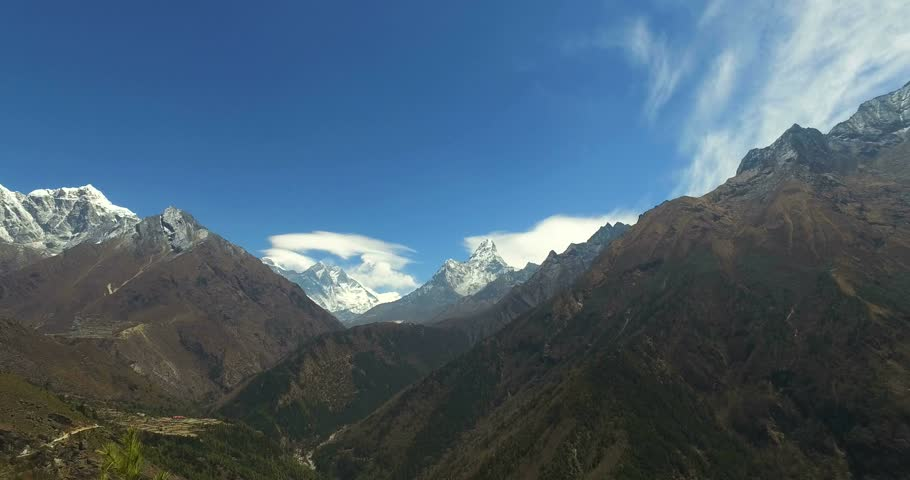 View in Himalayas, Nepal, the trek to Everest base camp. | Shutterstock HD Video #16670452