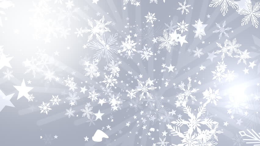 Christmas Background Of Winter Snowflakes Stock Footage