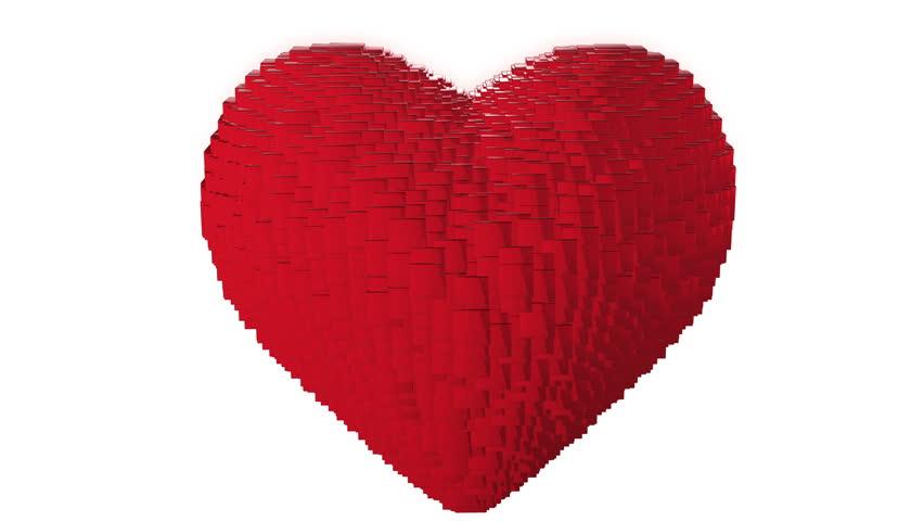 Line Art Love Heart : Love heart symbol red black line art blinking