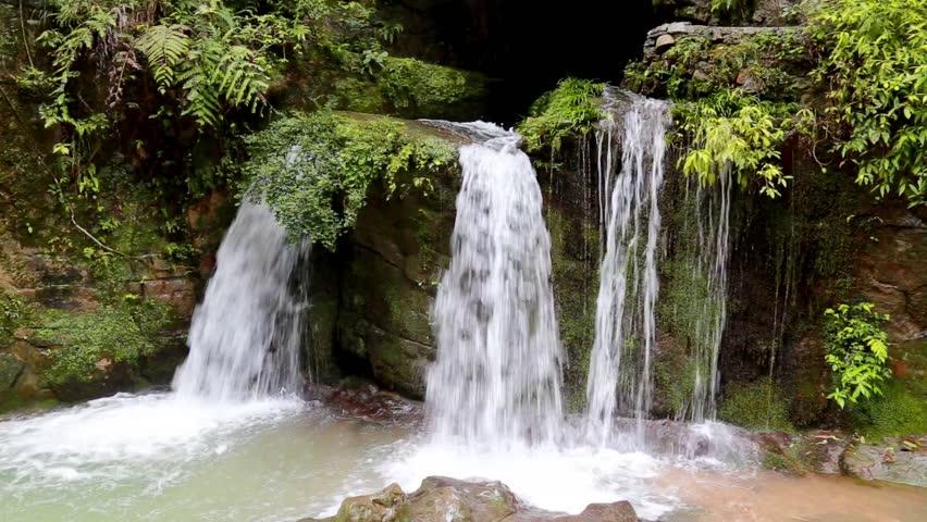 Waterfall In Tropical Paradise (HD Loop), Tropical ...