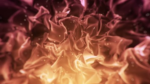 Abstract background with animation of waving silk. Clear backdrop of ripple fabric. Beautiful abstraction of glowing cloth. Animation of seamless loop.