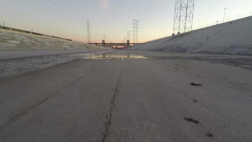 L.A. River Sunset Aerial 1 | Shutterstock HD Video #16782892