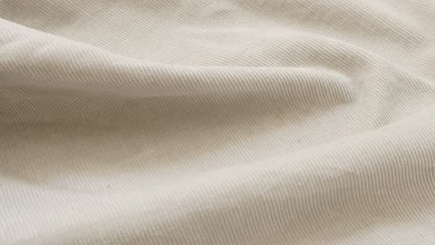 Light color fine velvet material pattern ready for tailoring 4K 3840X2160 UltraHD footage - Cotton corduroy fabric texture close-up fine details 4K 2160p 30fps UHD video