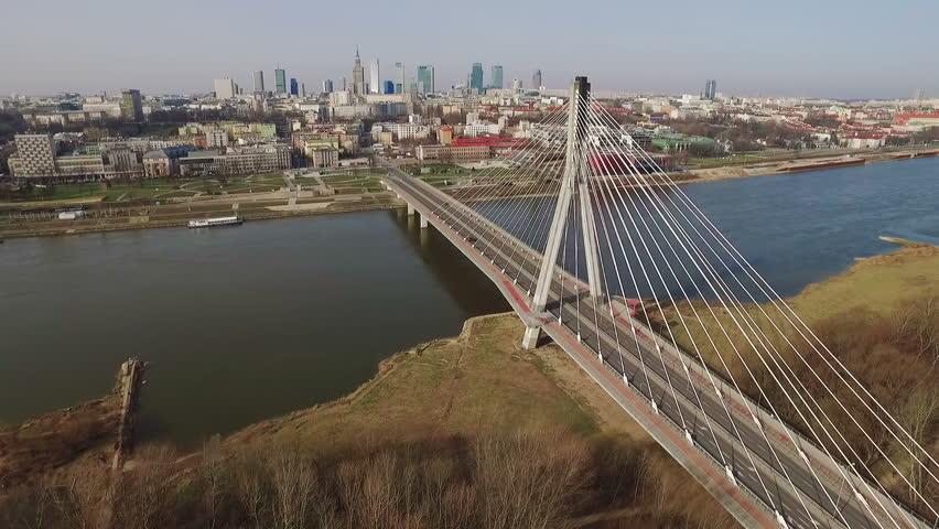 Bridge on Warsaw, Poland.