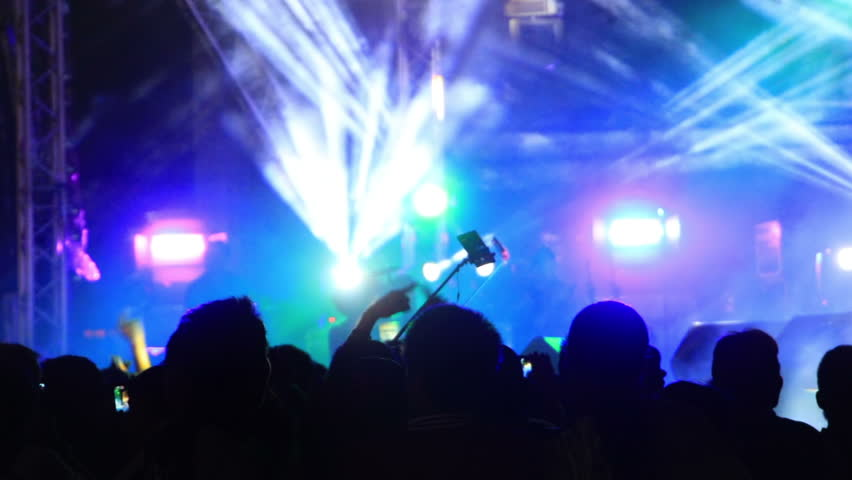 Flashing spotlights at concert  | Shutterstock HD Video #16825792