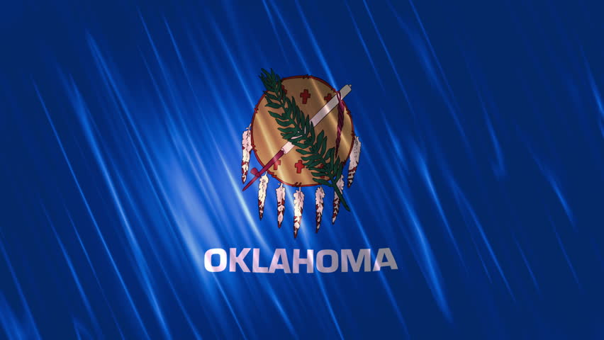 Oklahoma State Loopable Flag,  Ultra HD, 3840x2160 Pixels, Seamlessly Loopable Flag Animation Works with all Editing Programs Simply Loop it for any duration