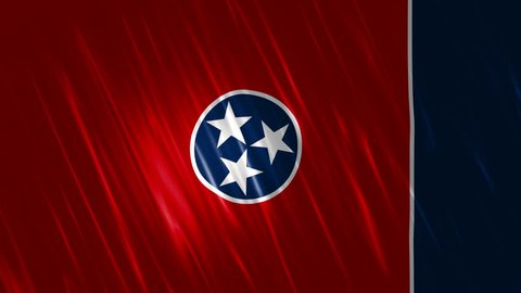 Tennessee State Loopable Flag,  Ultra HD, 3840x2160 Pixels, Seamlessly Loopable Flag Animation Works with all Editing Programs Simply Loop it for any duration
