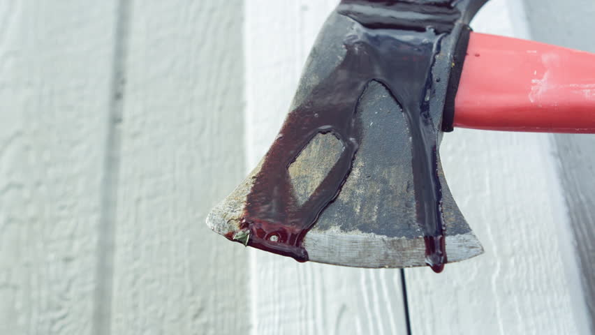 Stock Video Clip of Blood dripping of ax of a killer | Shutterstock