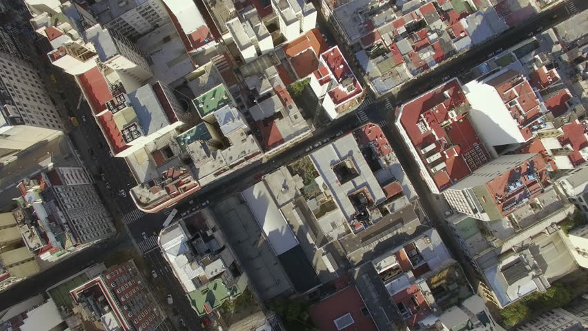 Buenos Aires, Argentina - November 21, 2015: Rooftops of city high rises | Shutterstock HD Video #16885795