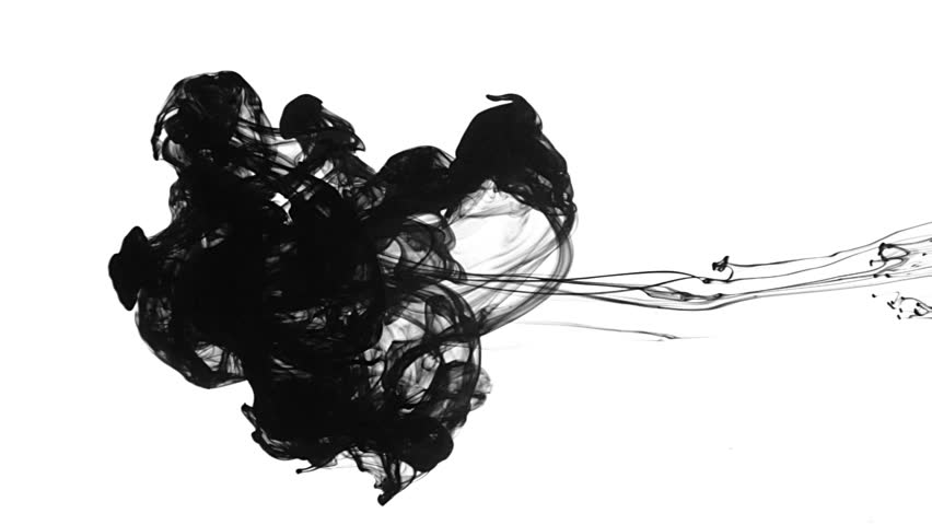 Ink drops in water for effects.