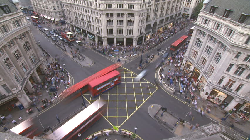 Oxford Circus, London, Timelapse HD