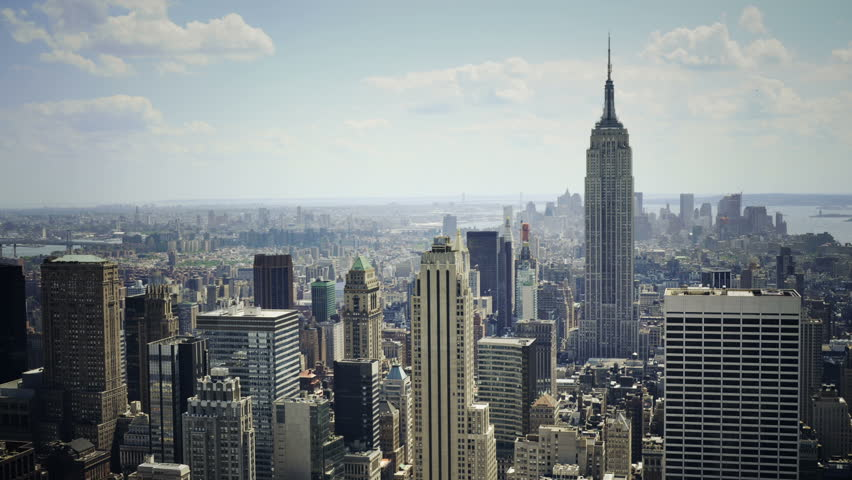 New York City With Empire State Building Stock Footage Video