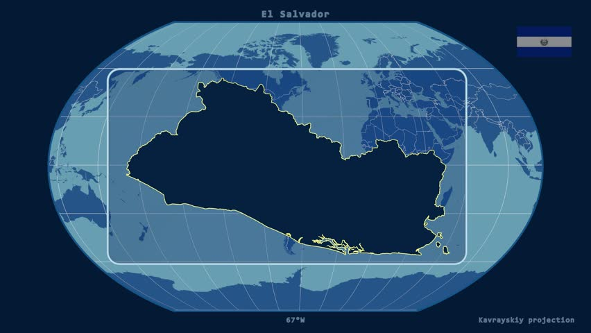 El Salvador Map Stock Footage Video Shutterstock - El salvador earth map
