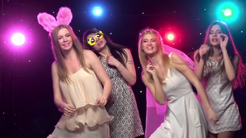 Bachelorette Party Girlfriends Dancing And Stock Footage Video 100 Royalty Free 16967632 Shutterstock
